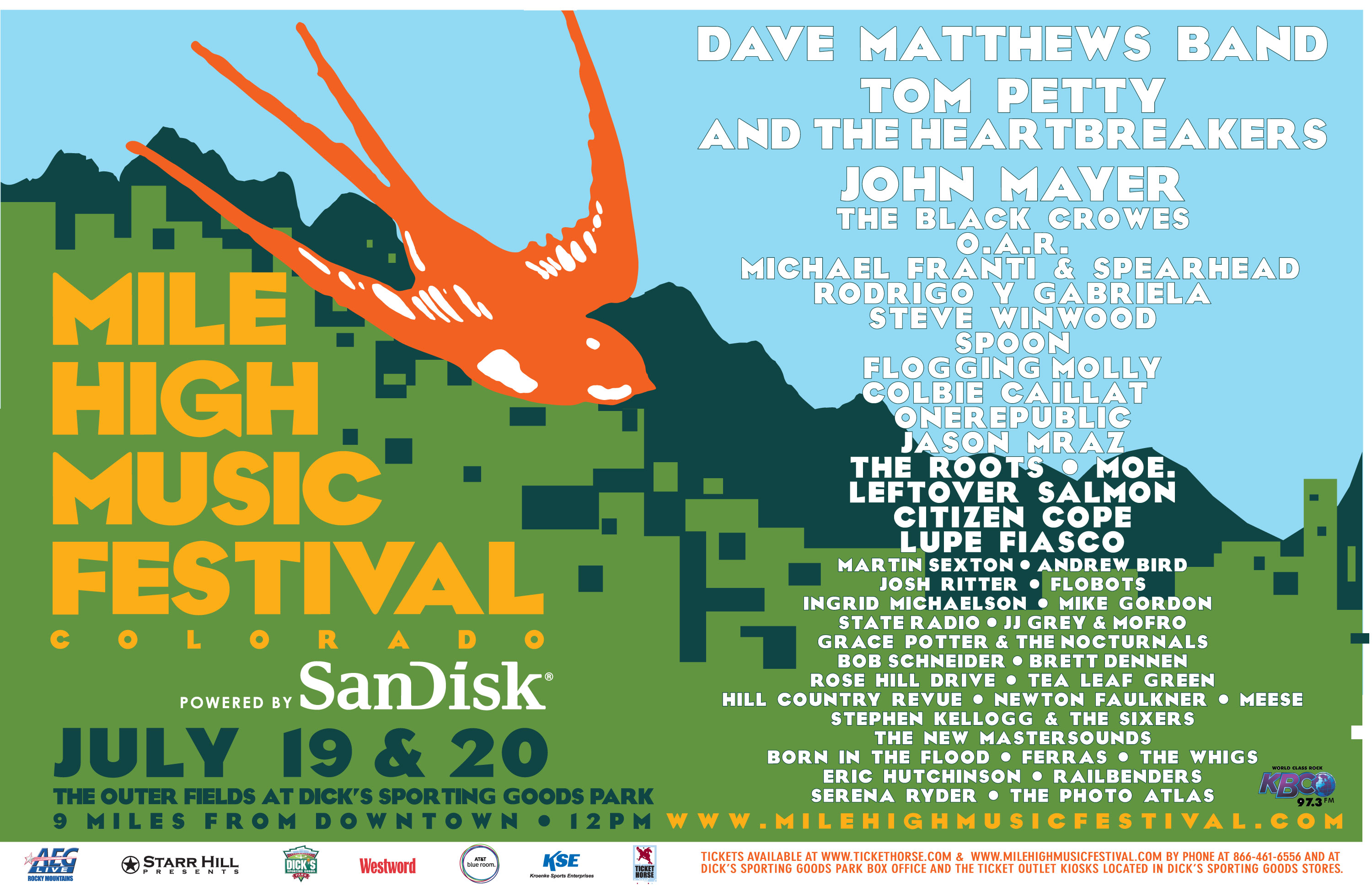Mile High Music Festival Poster